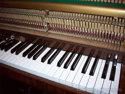 процесс настройки пианино